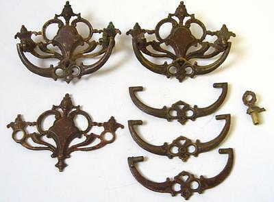 Lot of VTG Ornate Brass Arco 10014 Dresser Drawer Handles Pulls Hardware Parts
