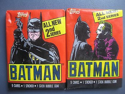 Batman The Movie Series 2 Trading Cards Lot Of Two Wax Packs 1989 Topps