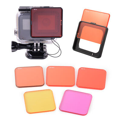 Protective Sea Diving Lens Filter Set for GoPro Hero5 Camera Underwater Shooting