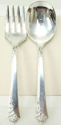 Heirloom Sterling By Oneida Toddler Spoon & Fork In The Damask Rose Pattern