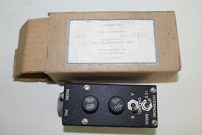 NOS Vintage Navy WWII RL-9 Control Box for Aircraft Interphone