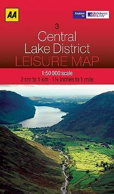 New, Leisure Map Central Lake District (AA Leisure Maps), AA Publishing, Book