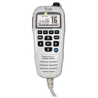 Icom Commandmic Iv With White Backlit LCD In Super White - HM195GW