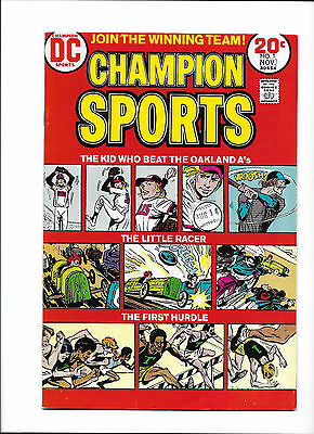 """CHAMPION SPORTS #1  [1973 VG-FN]  """"THE KID WHO BEAT THE OAKLAND A's!"""""""