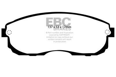 EBC Yellowstuff Front Brake Pads for Nissan Stagea 2.5 (96 > 01)