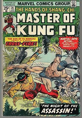 "Master Of Kung Fu #24 Marvel 1975 Hands Of Shang-Chi ""night Of The Assassin!"" Vf"