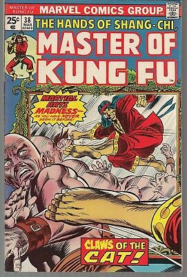 "Master Of Kung Fu #38 Marvel 03/76 Hands Of Shang-Chi ""claws Of The Cat!"" Vf+"