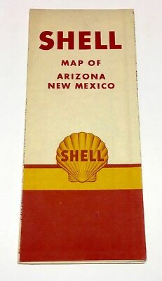 1947 SHELL Oil Route 66Arizona / New Mexico Road Map
