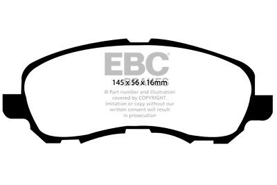 EBC Yellowstuff Front Brake Pads for Peugeot 4008 2.0 (2012 on)