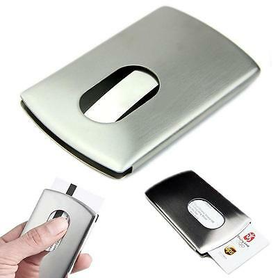 New Wallet Business Stainless Steel Name Credit ID Card Holder Pocket Case TL