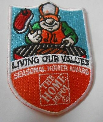 Living Our Values (Cooking on BBQ) Seasonal Homer Award HOME Depot Iron-On Patch