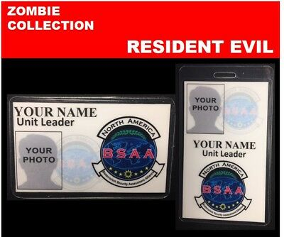 zombie ID collection..RESIDENT EVIL..2 Card Set << BSAA>>