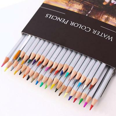 24/36/48pcs Water Soluble Water Colors Wooden Pencil Painting Drawing Sketch