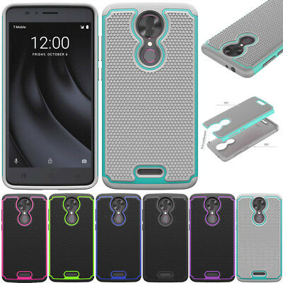 Shockproof Silicone Hard Case Hybrid TPU Armor Cover For T-mobile Revvl Plus