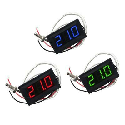 Red+Green+Blue Thermometer LED Display Digital Temperature with Sensor Probe