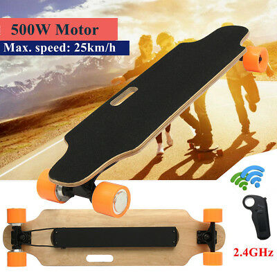 500W/250W Electric Skateboard Maple Dual Motor Longboard Wireless Remote Control