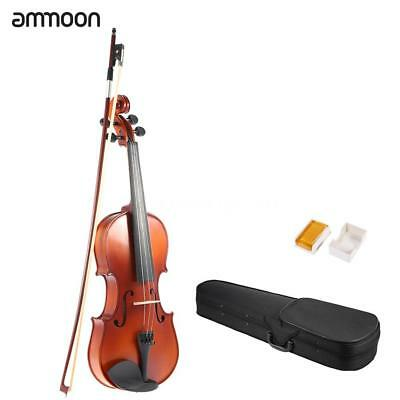 ammoon 4/4 Full Size Solid Wood Antique Violin Fiddle Matte Finish Spruce B2O2