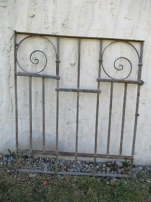 Antique Victorian Iron Gate Window Garden Fence Architectural Salvage Door #062