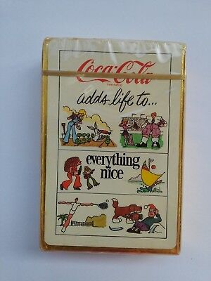 "1970's Coca Cola ""COKE ADDS LIFE TO EVERYTHING NICE"" Sealed Playing Card Deck"