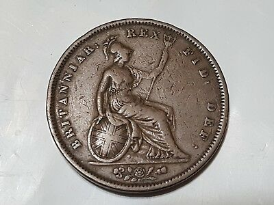 1834 BRITISH GB UK FARTHING ? COIN , not graded , looks fairly good