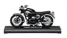GENUINE TRIUMPH BONNEVILLE T100 1:18 SCALE MODEL BOXED in Graphite / Black