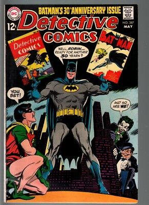 DETECTIVE #387-1969-KEY ISSUE-JOKER/PENGUIN-BATMAN-DC-VF minus VF-