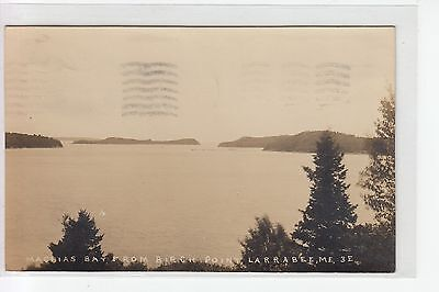 Eastern ILL Real Photo Postcard Machias Bay from Birch Point  Larrabee  ME