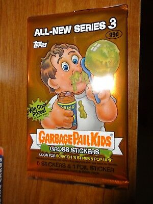 2004 Garbage Pail Kids All New Series 3 ANS 3 Unopened Sticker Pack from Box