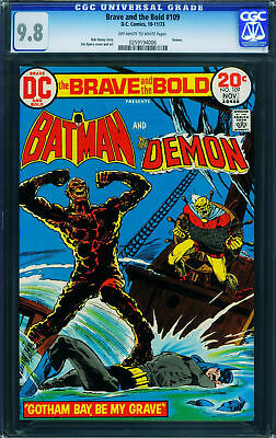 The Brave and the Bold #109 CGC 9.8 1972- Batman - Demon 0259194006