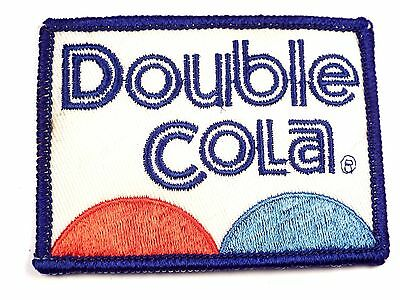 Original Vintage Double Cola Embroidered Uniform Patch Soda Collectible SMALL SZ