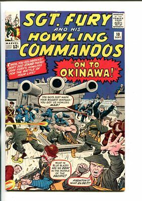 SGT FURY AND HIS HOWLING COMMANDOS-#10-1964-MARVEL-KIRBY ART-WWII-vf/nm