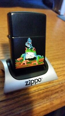 Zippo 5 Frogs on Black Licorice Only 50 made New in Box