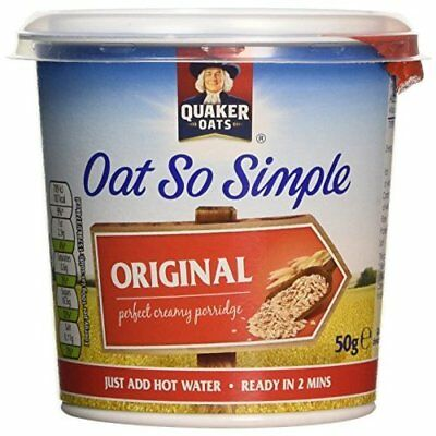 Quaker Oat So Simple Original Porridge Pot, 8 x 50g