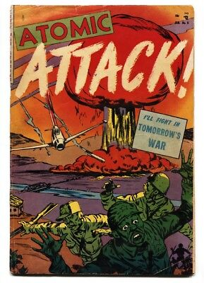 Atomic Attack #5 1953-Youthful-Atomic Explosion Cover-Sci-Fi War
