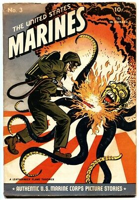 United States Marines #3 comic book Over the top TOJO octopus Flamethrower cvr