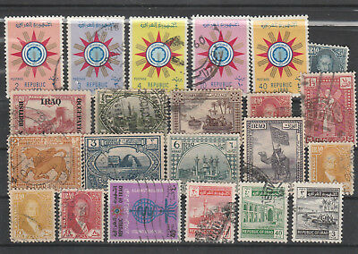 Iraq Iraq Middle East older Postage Stamps mix old Stamps mix Lot Am 5198