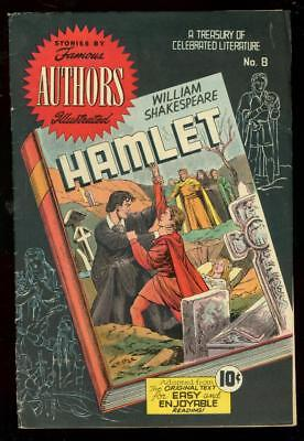 Hamlet-Famous Authors Illustrated Comics #8 Shakespeare Fn/vf