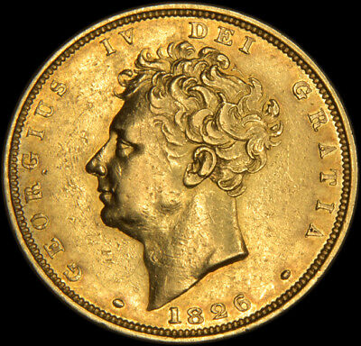 King George The Iv 1826 Gold Sovereign....