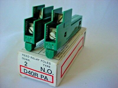 Cutler Hammer Reed Relay Poles D40R PA Type NO Quantity of 2 to 1 box NIP