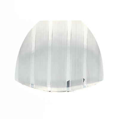 Elgin American Compact Makeup Mirror - Sterling Silver Clam Shell Stripe Vintage