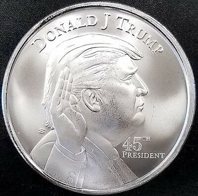 Donald J. Trump, 45th President, 1 Troy Ounce .999 Fine Silver Round! IN STOCK