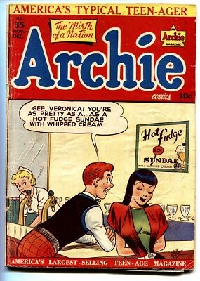 Archie #35 Spicy cvr-1948-MLJ-Betty-Veronica-spicy cover-Golden-Age