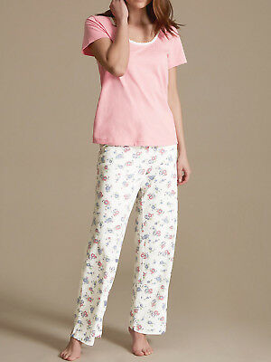 EX M S MARKS AND SPENCER M S Lilac Cloud Brushed Cotton Pyjamas PJ s ... ca893a6a0