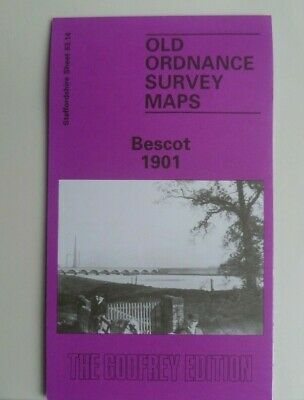 Old Ordnance Survey Detailed Maps Bescot Staffordshire  1901 Godfrey Edition New