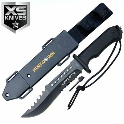 "12"" TACTICAL Hunting SURVIVAL Fixed Blade Army BOWIE Knife MILITARY + Sheath"