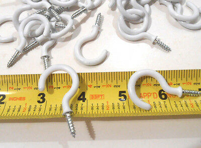"""CUP HOOKS 12 Pcs Utility 1-1/4"""" inch Steel Screw Mount Plant Hanger with Coating"""