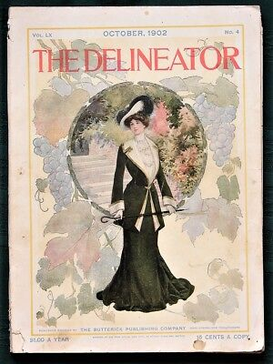 The Delineator orig 1902 Butterick Co Clothing Sewing Pattern Catalog Magazine
