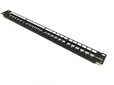 """Leviton 49255-H24 QuickPort Patch Panel, 24-Port, Fits 19"""" Racks and Cabinets"""