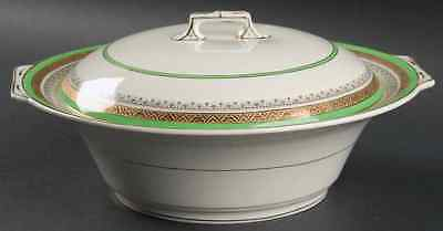 Myott Staffordshire THE CROWNING GREEN Round Covered Vegetable Bowl S1251447G2