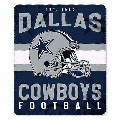"Dallas Cowboys NFL Northwest 50""x60"" Singular Soft Fleece Throw Blanket FREE"
